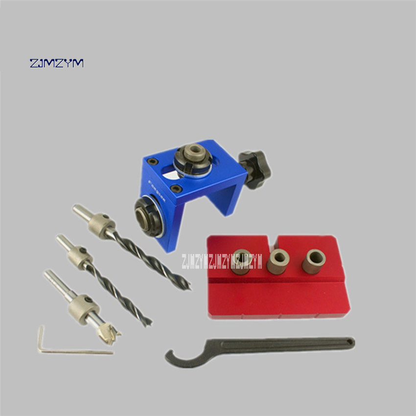 New Hot 08350 08500 3-in-1 Punch Locator Round Wooden Tenon Punch Locator Woodworking Cutters Hole Opening Device 23-42mm 5-35mm