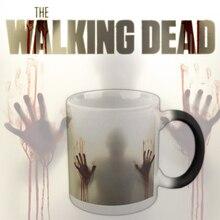 """Tv Show """"The Walking Dead"""" Becher Farbwechsel Wärmeempfindlicher Keramik Tasse, Terroranschläge Zombie kaffeetassen morphing tee tasse"""