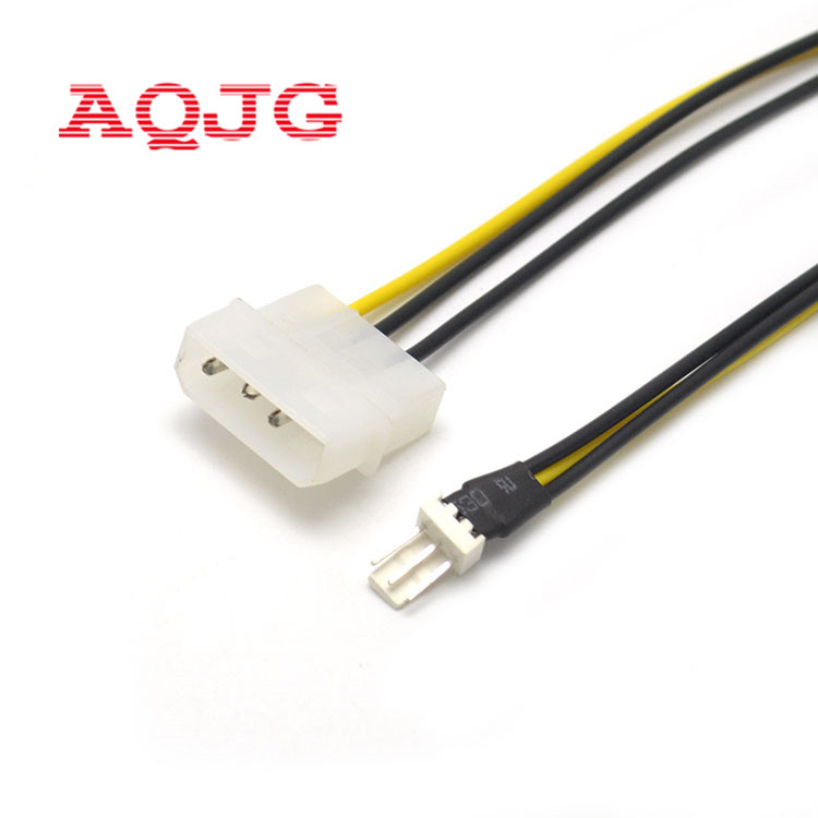 2PCS 4-Pin Molex//IDE to 3-Pin CPU//Case Fan Power Connector Cable Adapter 20cm `