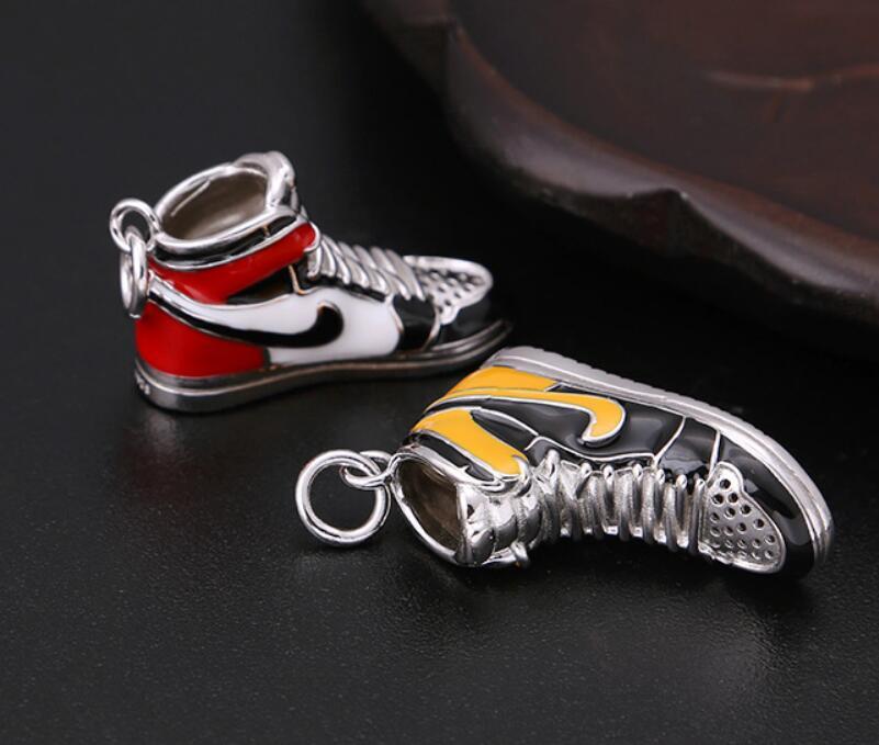 Image 5 - S925 Sterling Silver Jewelry Retro Sneakers four color Pendant (FGL)Pendants