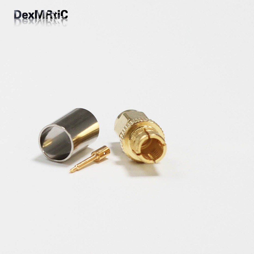 1pc SMA  Male Plug RF coax Connector crimp For  LMR300 Straight Goldplated  New  Wholesale allishop rf sma straight goldplated sma male plug to rp sma female jack rf coax adapter convertor