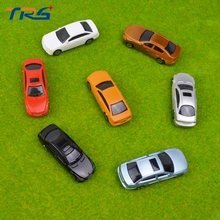 High quality 50pcs 1:75 architectural ABS plastic scale model car for train layout