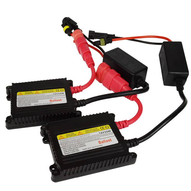 2 pcs 35w DC12V xenon ballast ignition blocks Black color h9 hid kit digital ballast