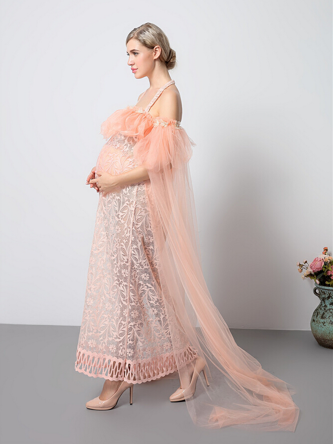Fashion Maternity Photography Props Fancy pregnant women Dresses Pregnancy Clothes Chiffon Dress Photo Shoot Session Dress pregnancy photo shoot beach dress white chiffon flower maternity long dress pregnant photography props fancy dresses clothes