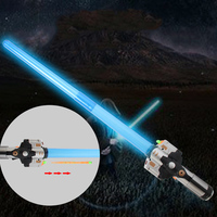 70CM Star Wars Toy Telescopic Laser Sword Cosplay Props Kids Double Light Saber Lightsaber Toys For