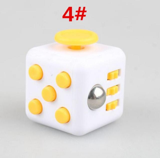 Yellow White 4 Large 3333cm Fidget Cube 13 Inch Hand Spinner Stress