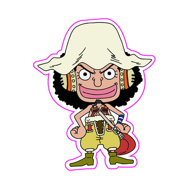 One Piece Usopp 6-30cm Fixed Gear/Luggage/Guitar/Motor Stickers Home Decorations Reusable ONEPIECE Refrigerator Stickers