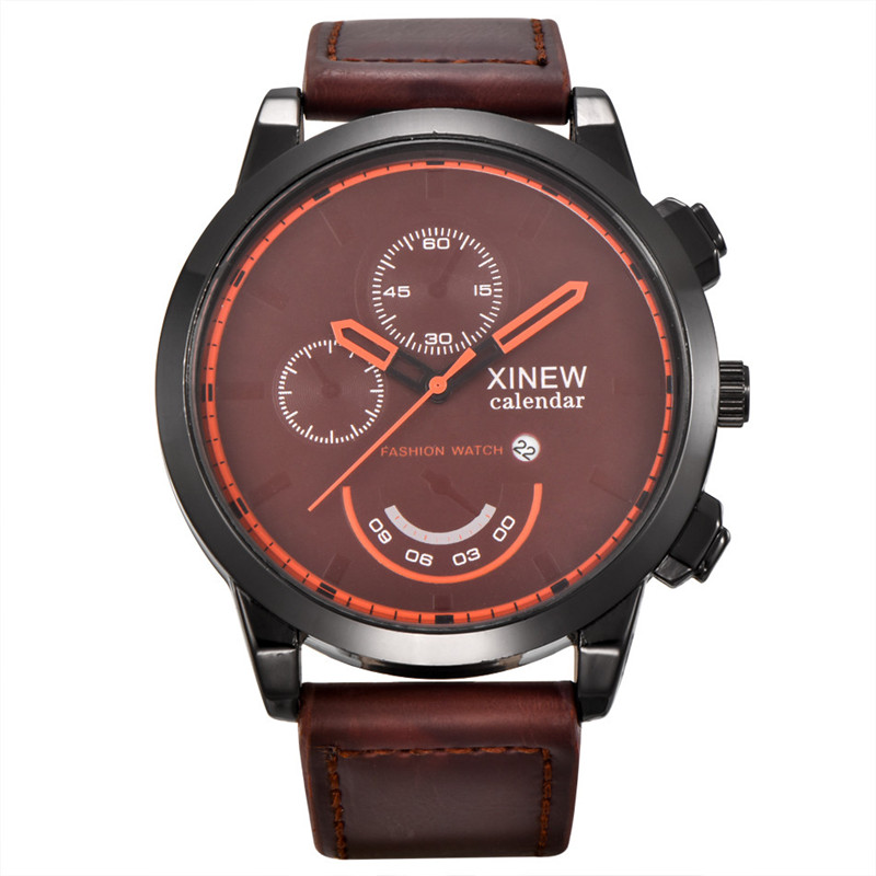 2017 Vintage Classic Mens Waterproof Date Leather Strap Sport Quartz Army Watch 2017 luxury brand blue shope 30%
