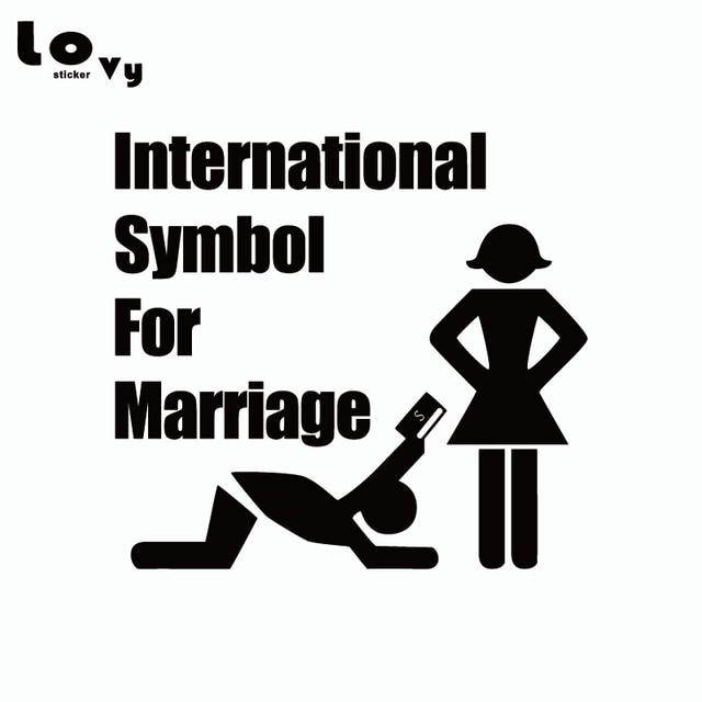 International Symbol For Marriage Car Sticker Funny Cartoon Vinyl