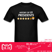 5ca4294e9 History Of US Presidents 2018 Novelty T-shirt Men Cartoon T Shirt Funny  Designer Summer