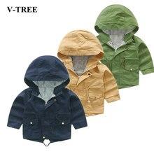 V-TREE Spring Autumn Jacket For Girls Cartoon Boys Coat Hoody Children Outerwear Baby Windbreaker