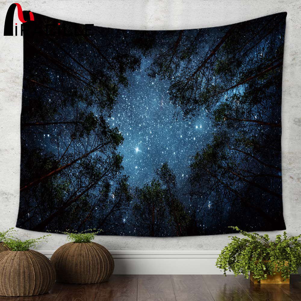 Miracille Beautiful Night Sky Wall Tapestry Home