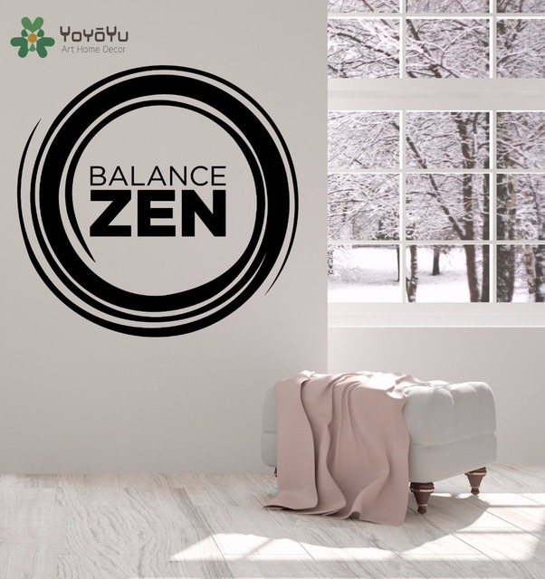 YOYOYU Wall Decal Buddha Vinyl Wall Stickers Zen Balance Decor Yoga ...
