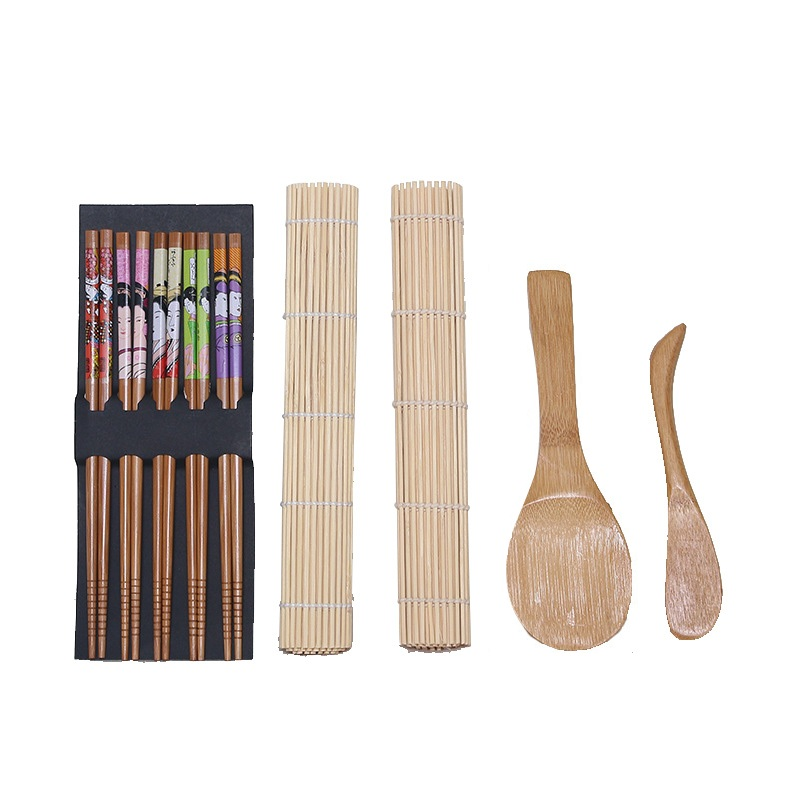 Us 3 92 35 Off 5pcs Set Bamboo Sushi Maker Set Including 2pcs Rolling Mat Rice Spreader Paddle 5pairs Chopsticks Cooking Tools In Sushi Tools From