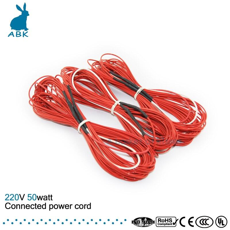 F6K 15meters 50w 66ohm Carbon fiber heating wire PTFE Teflon ...