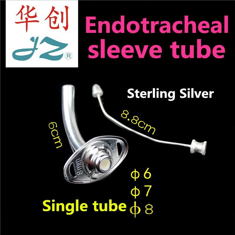 Tube d'intubation endotrachéale de canule trachéale argentée de traitement d'urgence d'instrument chirurgical d'otolaryngologie médicale de JZ
