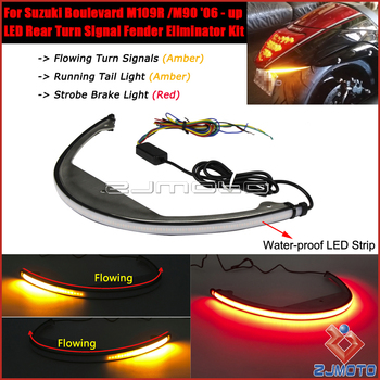 Motorcycle Sequential Switchback LED Taillights Turn Signals Fender Eliminator Kit For Suzuki Boulevard M109R M90 2006 - Up