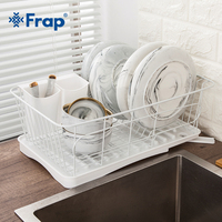 Frap kitchen organizer Bowl Plate Dish Cup plastic cutlery Drainer Storage Shelf Rack Organizer Holder for kitchen dishes drying