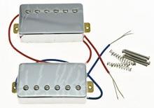 KAISH Set of 2 Chrome LP Guitar Pickup Humbucker Neck & Bridge Pickups for LP