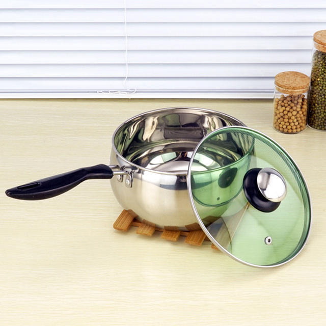 Stainless Steel Cooking Pot  with Lid Milk Saucepan