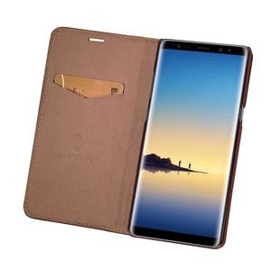 Image 3 - Mulubo Funda ultrafina para teléfono Samsung Galaxy S9 Plus S8 +, Funda de piel auténtica S8 Plus, con tarjetero de lujo