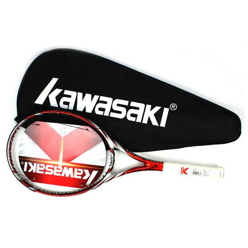 Kawasaki Tennis Racket Carbon Tennis Racquet With Bag Overgrip Tennis String Tenis Masculino Trainer Raqueta Tenis Padel Racket