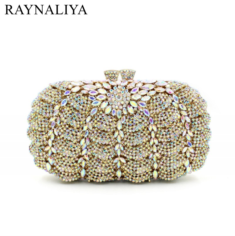 Mini Size Silver Box Clutch Bag Crystals Gold Evening Bags Sale With Shoulder Chain Clutch Purse For Bride Wedding SMYZH-E0281 03 red gold bride wedding hair tiaras ancient chinese empress hat bride hair piece