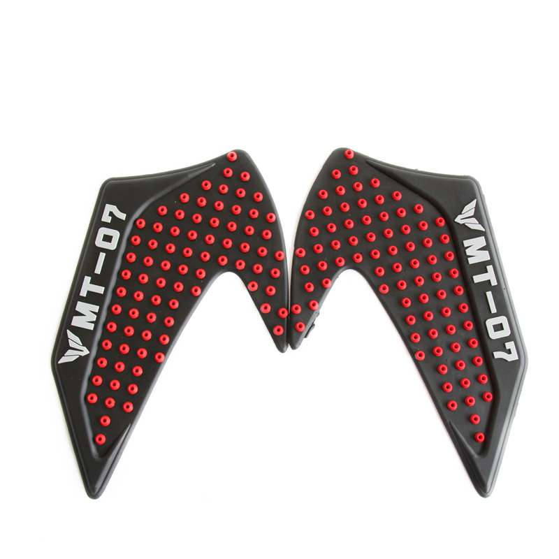 One Pair 2016 New Design For YAMAHA MT 07 MT07 MT 07 Tank Traction Side Pad Gas Fuel Knee Grip Decal Red Blue Black Titanium