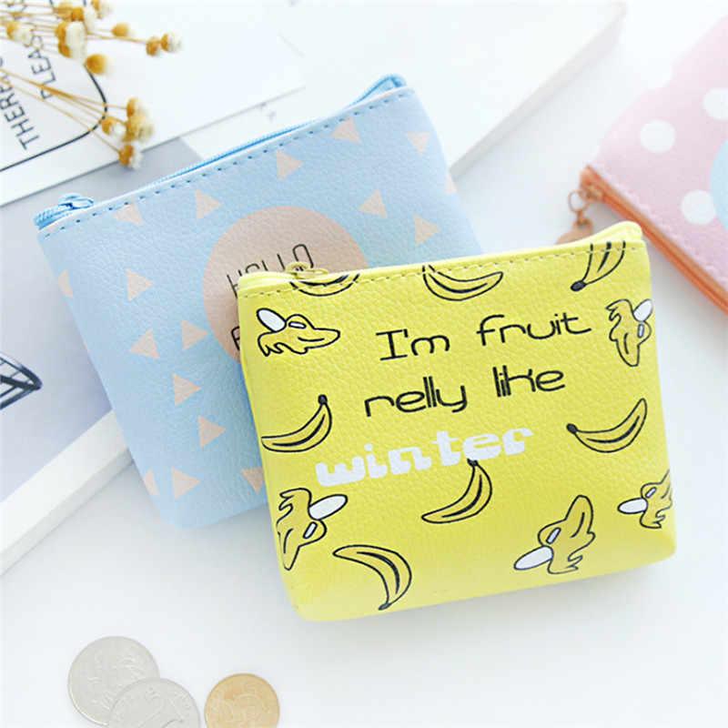 1 pc dos desenhos animados animais frutas moeda bolsas mini carteiras titular do cartão chave sacos de dinheiro bolsa para meninas