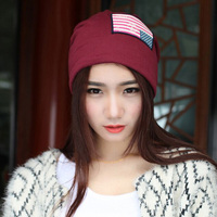 1 Pcs 2015 New Spring Summer American Flag Knitted Cap Fashion Hat For Men And Women