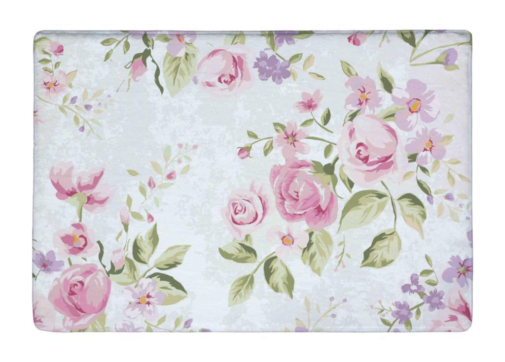 Floor Mat Vintage Pink Rose Elegance Flower Print Non Slip