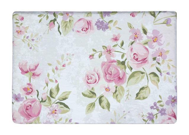 Tapis De Sol Vintage Rose Rose Elegance Fleur Imprimer Non Slip