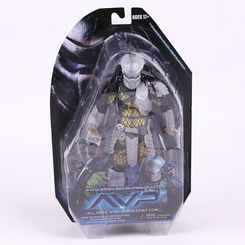 NECA Alien vs. Predator Young Blood Predator / Serpent Hunter PVC Action Figure Collectible Model Toy 8 20cm free delivery of genuine neca predator alien p1 ganso soldier elder predator model