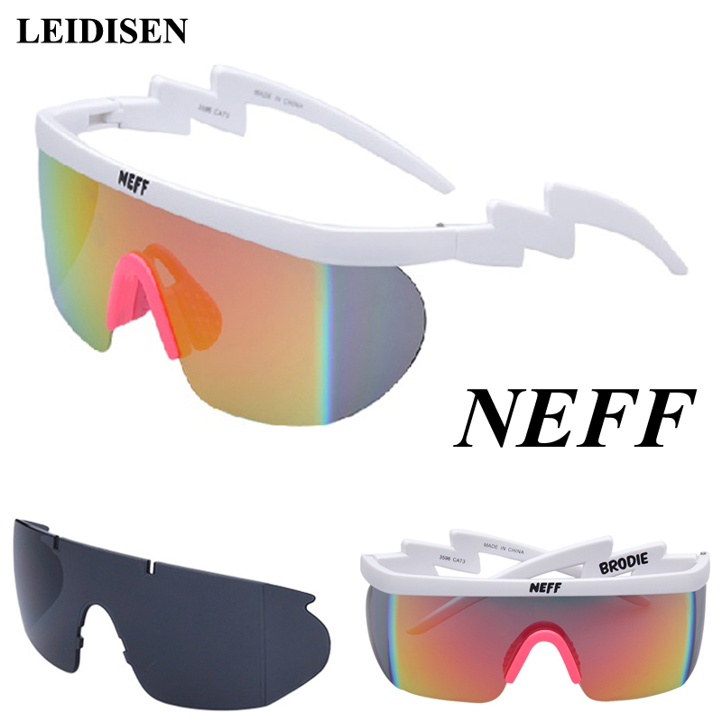 Nova moda neff óculos de sol homem/mulher unisex clássico marca retro sol gafas sol rua 2 lente eyewear feminino