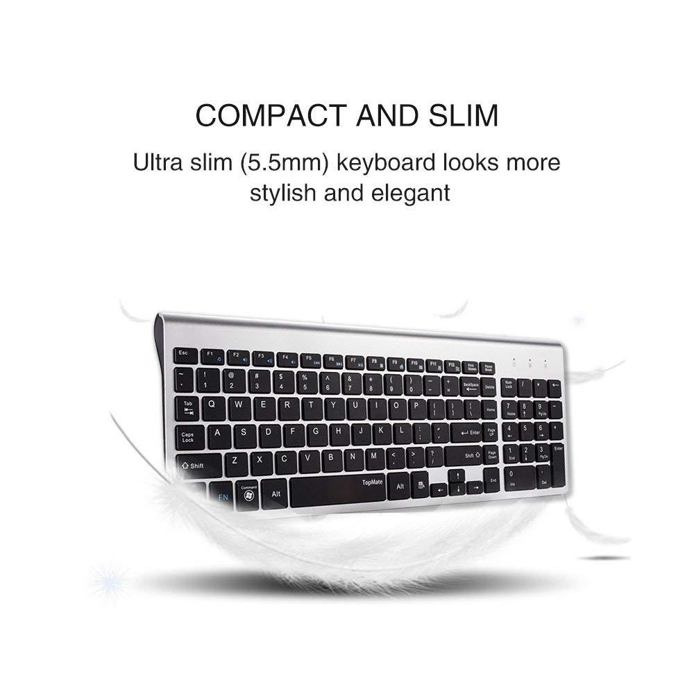 """""""TopMate KM9001 Ultra Slim Portable Mute"""" belaidė klaviatūra ir - Kompiuterių periferiniai įrenginiai - Nuotrauka 5"""