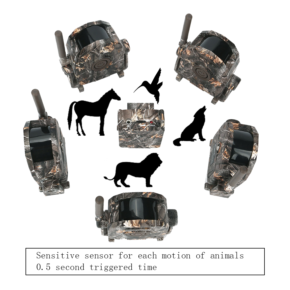 US $166 23 12% OFF|100M Range Wireless Wild Animal Motion Trigger Detector  Deer Trap Hunting Game Alarm Forest Protect Device-in Hunting Cameras from