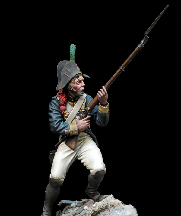 New Unassembled 1/24 75MM Soldier Of Pueblo (WITHOUT BASE )   Resin Kit DIY Toys Unpainted Resin Model