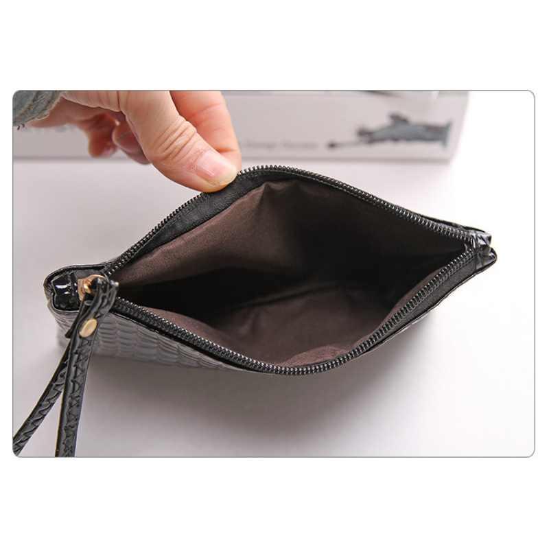 Cartera de lujo para mujer con cremallera, carteras largas, bolsos de dinero, billetera para mujer, cartera con cremallera para teléfono