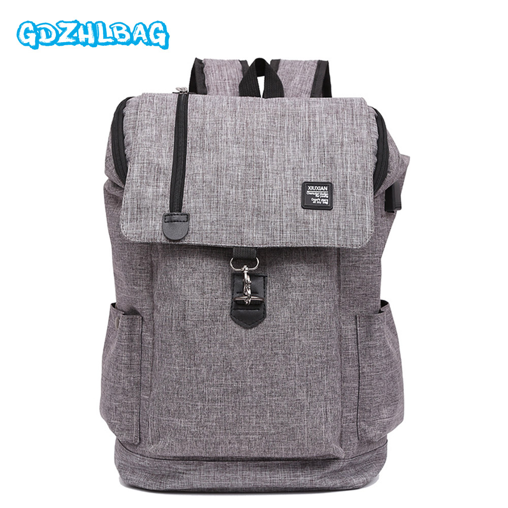GDZHLBAG Canvas USB Backpack Women Travel Rucksack Laptop School Bags for Teenagers Girls Mochila Men Anti-theft Backpacks B193 газонокосилка электрическая зубр згкэ 42 1800