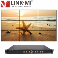 LINK MI TV09 Full HD 1080P Video Processor 3x3 Video Wall Controller hdmi usb vgs cvbs Compatible with DVI signal splitter