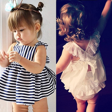 2016 summer Vestidos Baby Girl Dresses Princess Children Dress Stripe baby clothing Kids Girl Dress Brand Girls Clothes Costumes new 2017 summer autumn girl dress stripe cartoon cute children dresses side 2 pockets cotton vestidos girls clothes kids costume