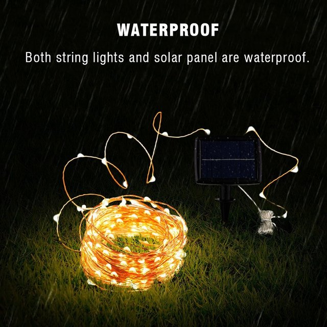 Solar String Fairy Lights 12m 100LED / 5M 50 LED  Waterproof Outdoor Garland Solar Power Lamp Christmas For Garden Decoration 5