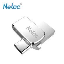 Netac U780C USB Flash drive 32 г 64 г USB3.0 Тип-C двойной Интерфейс поворотный Usb флешки OTG адаптер металлические палки памяти