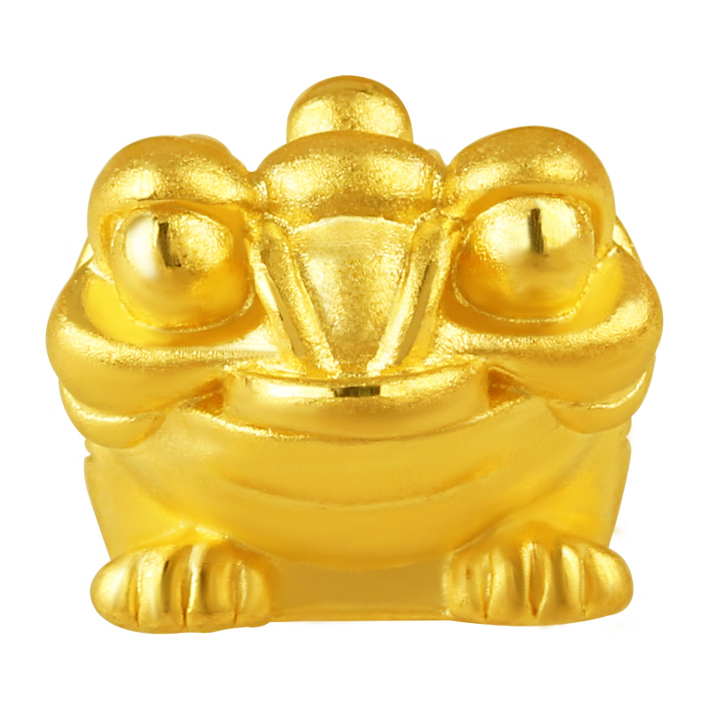 Solid 24K Yellow Gold Bracelet 3D 999 Gold Toad Bracelet 0.81g