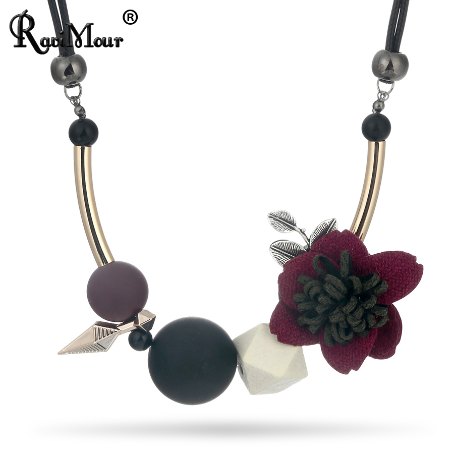 Energetic Ravimour Maxi Collar Mujer Geometry Flower Statement Necklace For Women Pu Leather Ethnic Choker Vintage Jewelry Christmas Gift Outstanding Features