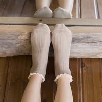 Summer Ladies Lace Socks Pure Cotton Short Socks 5pairs
