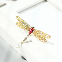 Delicate dragonfly brooch pin female atmosphere of luxury fashion wild corsage jacket coat accessories