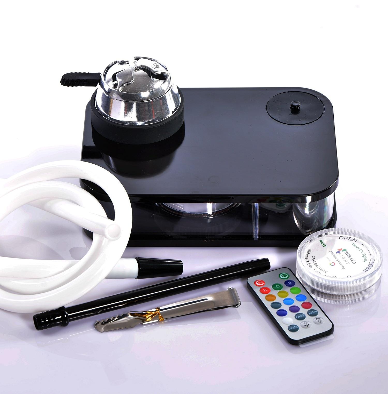 Narguilé acrylique de qualité supérieure ensemble de tabac narguilé Shisha avec bol tuyau porte-charbon de bois accessoires Sheecha/Chicha/narguilé