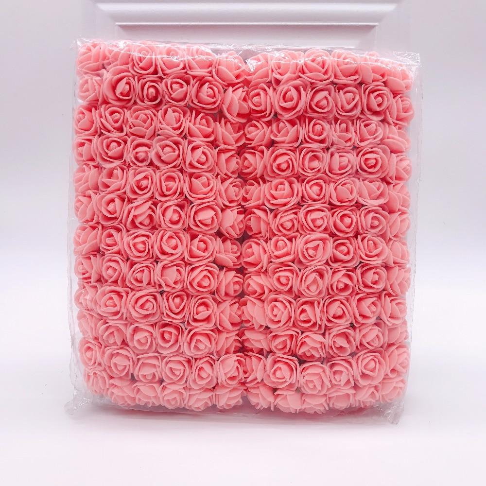144 шт 2 см мини-розы из пенопласта для дома, свадьбы, искусственные цветы, декорация для скрапбукинга, сделай сам, венок, Подарочная коробка, дешевый искусственный цветок, букет