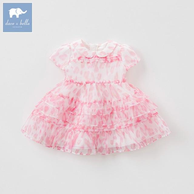 eb201cc71 Dave bella summer baby girls party wedding birthday dress children Lolita dresses  toddler infant clothes DB7554